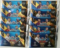 10 x Sealed Packs 2019 2020 Match Attax 101 UEFA Champions Soccer Trading Cards