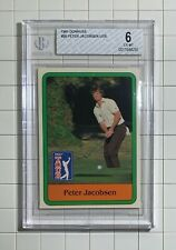 Peter Jacobsen UER RC 1981 Donruss #26 BGS Graded 6 ExMt PGA