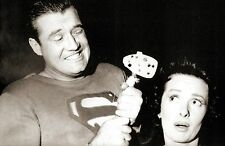 RARE STILL  SUPERMAN GEORGE REEVES OFF CAMERA WITH LOIS