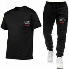 Audi Auto Herren Jogginganzug Hose Sportanzug Sportanzug T-Shirt Shorts Anzug dd