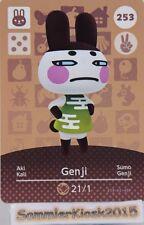 Genji / Aki No. 253 - Amiibo Sammelkarte Animal Crossing HHD Serie 3 Karte