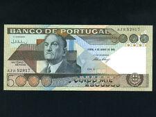 Portugal:P-182d,5000 Escudos,1985 * António Sérgio * UNC *