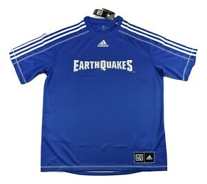 adidas MLS Mens San Jose Earthquakes Climalite Soccer Jersey NWT S, M, L, XL