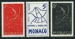 Monaco 306-308,hinged.Michel 473-475. Frederic Ozanam,St.Vincent de Paul,1954.