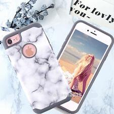 Ultra Slim Marble Pattern Rubber TPU Hard Back Phone Case Cover F Apple iPhone 7
