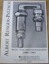 GERMAN EXHIBITION POSTER 1993 ALBERT RENGER-PATZSCH LATE INDUSTRIAL PHOTOGRAPHY