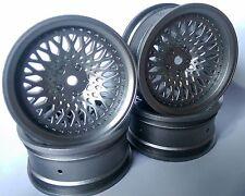 Rc Car 1/10 Drift FM Spoke Rim Wheel 9mm Offset fit Tamiya HPI 12mm hex SILVER