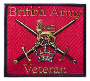 British Army Veteran Iron or sew on patch - HM Forces Veteran patch