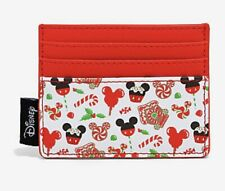 Loungefly Disney Christmas Holiday Treats Cardholder Wallet Mickey Mouse NEW