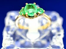 14k Gold, And Emerald 3 Stone Ring. Size 5.75
