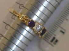 Cubic Zirconia Yellow Gold Amethyst Fine Jewellery