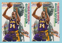 1996-97 SkyBox Premium Double Trouble Shaquille O'Neal Lakers #274 (KCR)