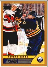 SCORE 2013 NATHAN GERBE NHL BUFFALO SABRES MINT GOLD VARIETY CARD #44