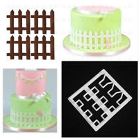 Fence Design Plastic Fondant Cutter Cake Mold Fondant DIY Decorating Tools New