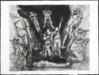 """Kunst in der DDR """"Die Sandinisten"""" 1987. Joachim JOHN (1933-2018 D) handsigniert"""