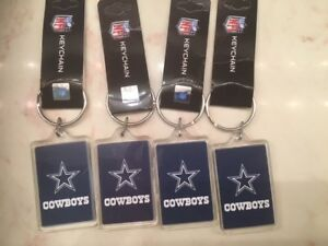 Brand NEW -  NFL Licensed Dallas Cowboys Acryllic Keychain Lot of 4