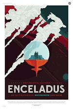 "Enceladus: More than 100 Geysers  - NASA JPL Space Travel Poster (24x36"")"