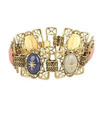 Wildfox Couture Fashion WFB0019 Antique Amulet Gem Stone Gold Bracelet Cuff