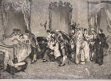 Il ritorno dal battesimo in Spagna, quadro di J.Gonzales 1879  xilografia