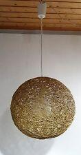 mid century design 60s - Ältere Vogelnest Rattan Designer Lampe Deckenlampe 60er