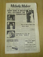 MELODY MAKER 1953 MAY 30 QUEEN CORONATION SPECIAL ERIC WINSTONE JAZZ