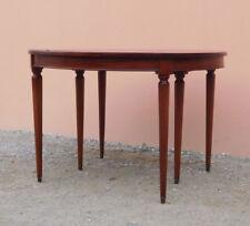 Tavolo tondo 6 gambe st.Luigi XVI allungabile, mogano, pr.metà '900 - D 112 cm!