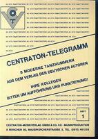 CENTRATON-TELEGRAMM - 8 moderne Tanznummern - Heft 1