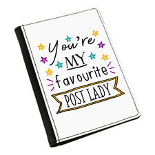 You're My Favourite Post Lady Stars Passport Holder Cover Case Best Postman