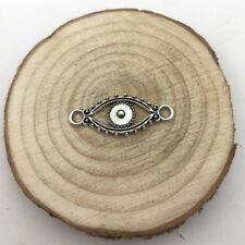 6pcs Evil Eye Connect Charm Tibetan Silver Tone Pendant  Charms Pendants 30x12mm