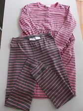 Hanna Andersson 140 Daydress Playdress Opposite Leggings Fresh Pink / Cobbleston