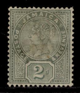 JAMAICA QV SG28a, 2d deep green, M MINT. Cat £25. BROWN GUM