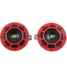 Universal 139Db Red Horn Compact Super Tone Loud Blast For Subaru Impreza 93-11