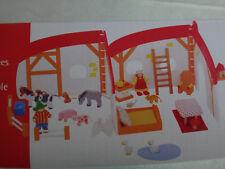 Puppenhaus aus Holz  mit flexiblen Wänden und 33 Teilen