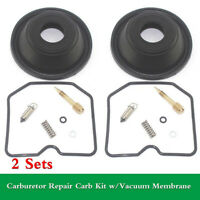 For Kawasaki ZZR250 EX250 EX250H GPX250 Carb Repair Kit w/Vacuum Membrane 2 Sets