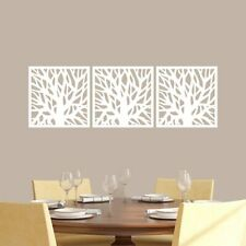 Tree Branch Squares Wall Decal Set - Trees, Branches, Flowers, Leaves, Sticker