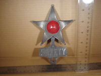 SAFETY STAR License Plate FOB Topper Wall Car Motorcycle