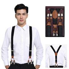 Plaid Jacquard Suspenders High Quality Male Female Braces Poise Vogue Braces
