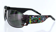ED Hardy CRUNK ROCK Sunglasses Black EHS 034 Crystals
