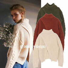Chunky, Cable Knit Hand-wash Only Solid Jumpers & Cardigans for Women