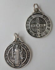 "St. Benedict Medal Catholic 3/4"" When Blessed Powerful Protection Against Demons"