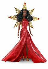Barbie 2017 Holiday Nikki Black Hair with Red Dress Doll Nikki Doll
