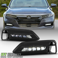 For 2018-2019 Honda Accord Sedan LED Bumper Fog Lights Lamps Bezel w/Switch Kit
