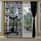 Black+Lace+Halloween+Curtain+Vividly+Bats+Window+Curtains+Home+Door+Decor+