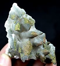 Calcite included & coated by Iridescent Chalcopyrite CMM681692 China