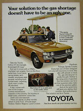 1973 Toyota CELICA ST 2x color photo vintage print Ad