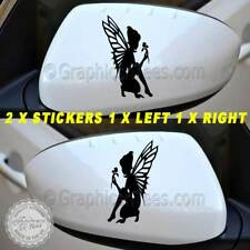Fairy Pixie Car Sticker, Wing Mirror, Bumper Graphics, Girly Car Stickers  X2