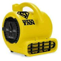 NEW Soleaire Super Fan Home Personal Portable High Velocity Floor Fan Yellow