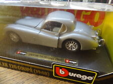 Bburago 124th Scale Car Jaguar XK 120 Coupe 1948 Orig Box - Silver