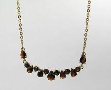 14kt Yellow Gold Garnet Necklace