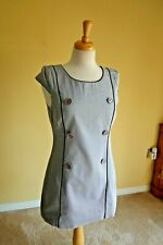 Ben Sherman Womens Tunic Dress Grey Medium M 10-12